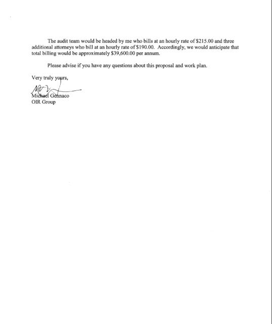 Letter 2009 agreement 2 of 2